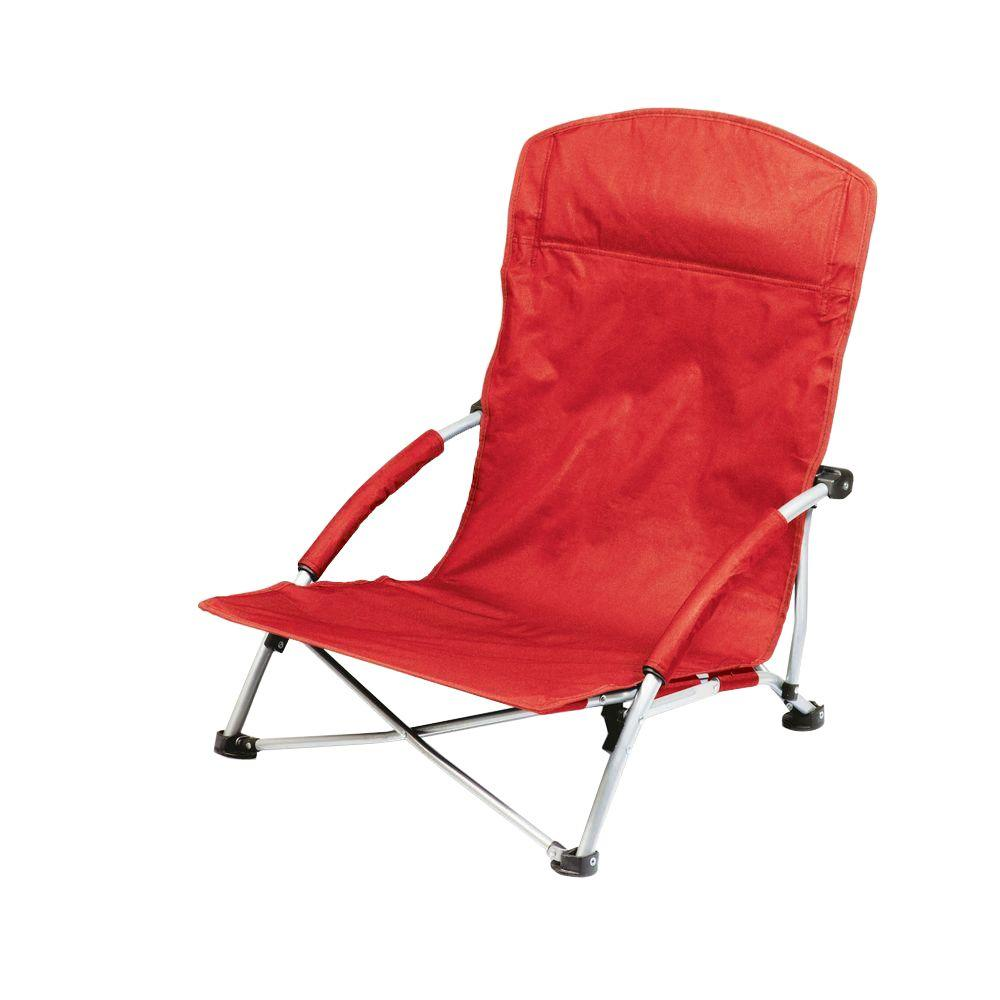 Picnic Time Red Tranquility Portable Beach Patio Chair