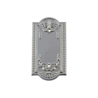 Meadows Switch Plate with Blank Cover in Bright Chrome