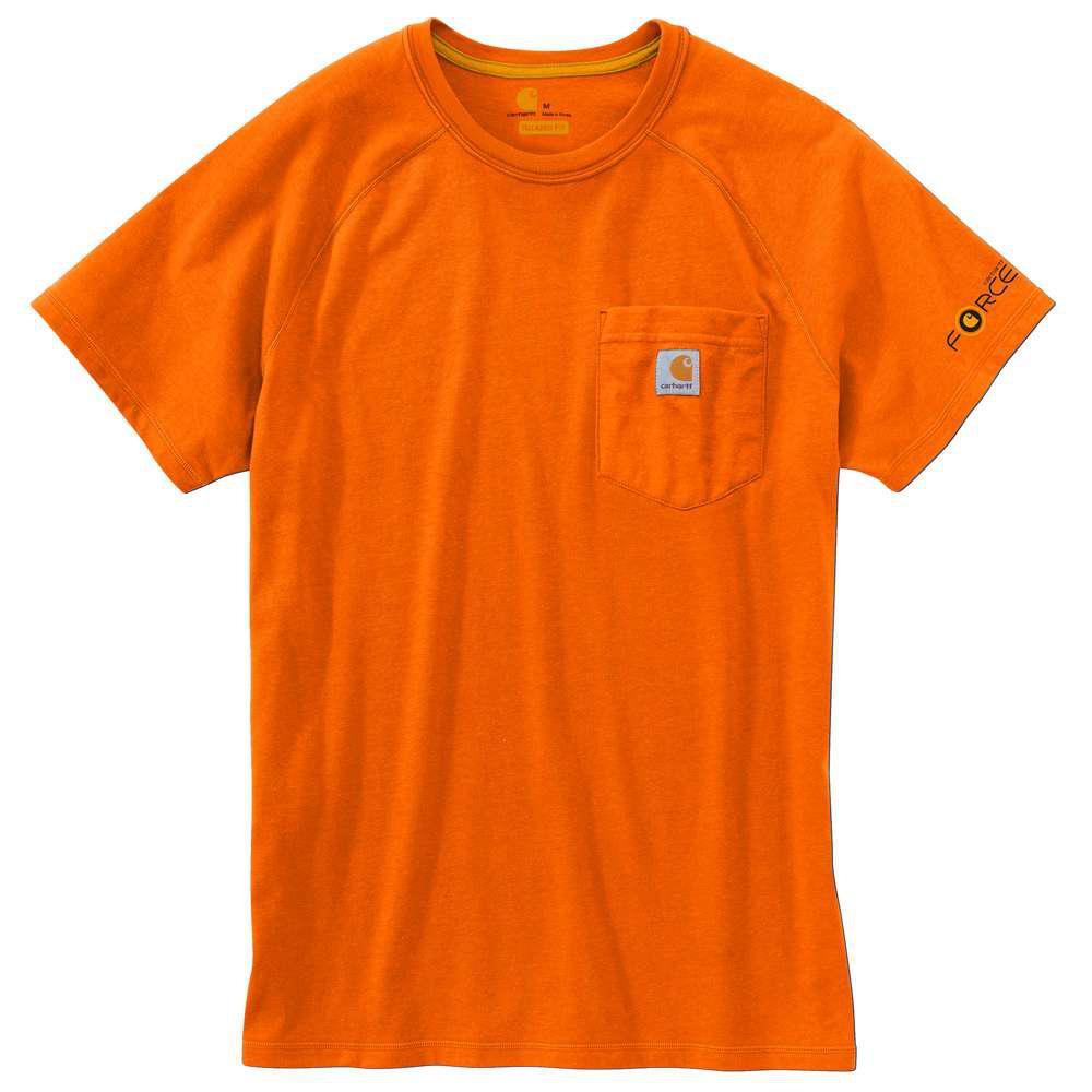 Force Delmont Men's Regular Small Orange Cotton Short Sleeve T-Shirt