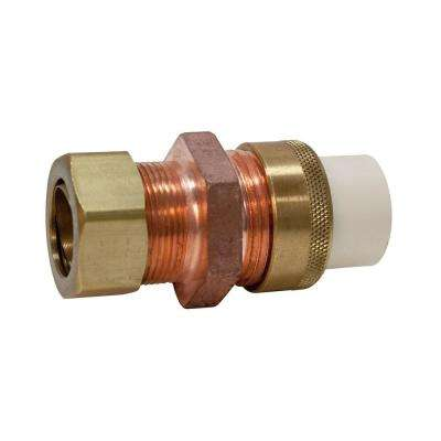 3/4 in. Lead-Free Copper and CPVC CTS Silicon Alloy Compression x Slip Union