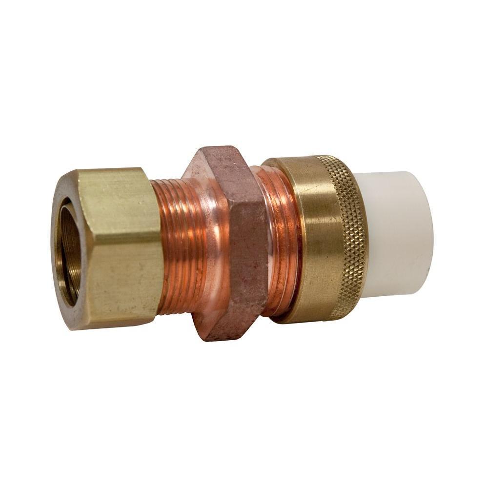 3/4 in. Lead-Free Copper and CPVC CTS Silicon Alloy Compression x Slip Union