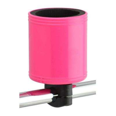 Kroozercups Drink Holder 2.0 Fits Bars from 5/8 in. to 1-3/8 in. with New Super-Tight Grip in Hot Pink