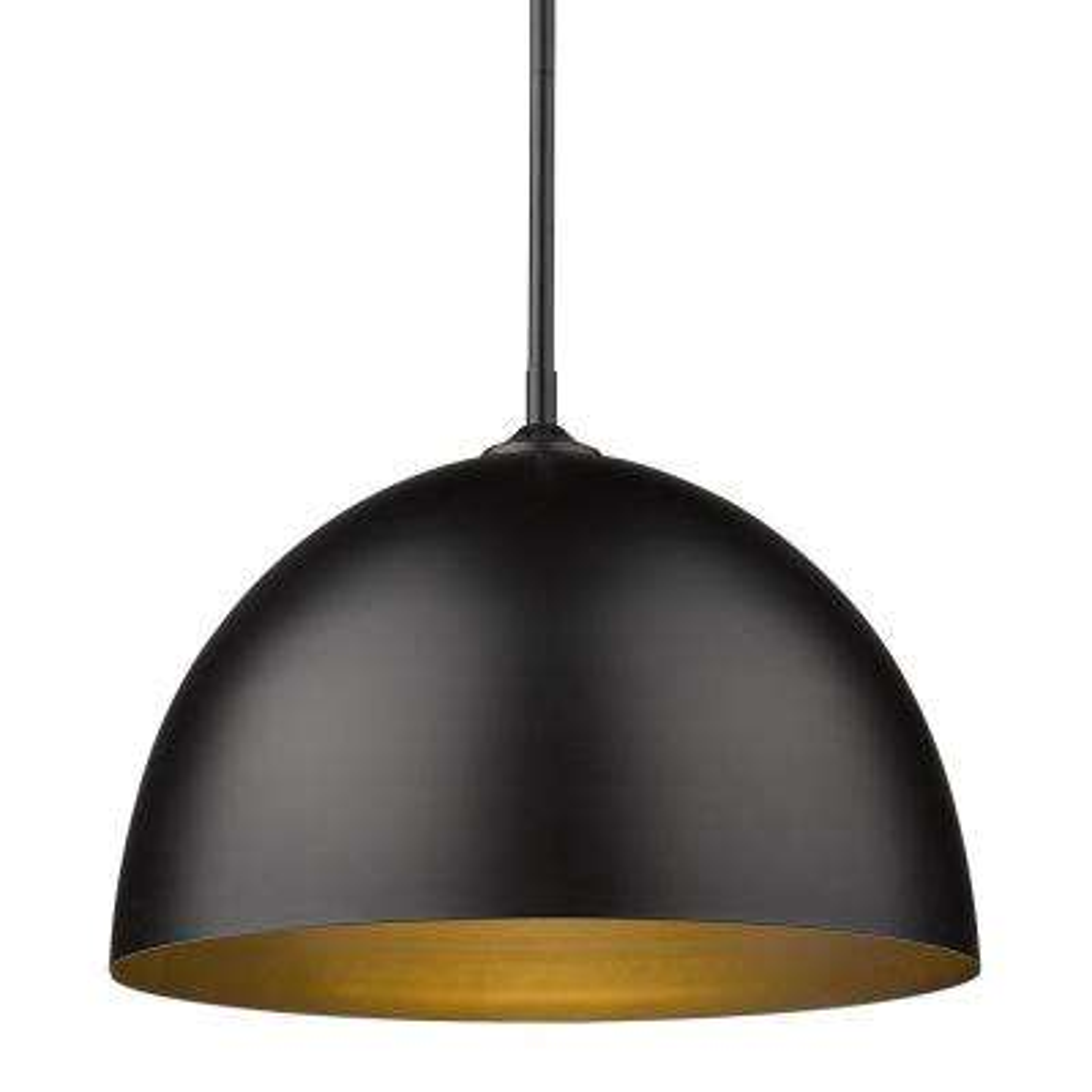 Zoey 1-Light Matte Black Standard Pendant