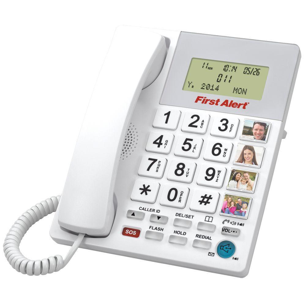 Big Button Digital Telephone with Emergency Key
