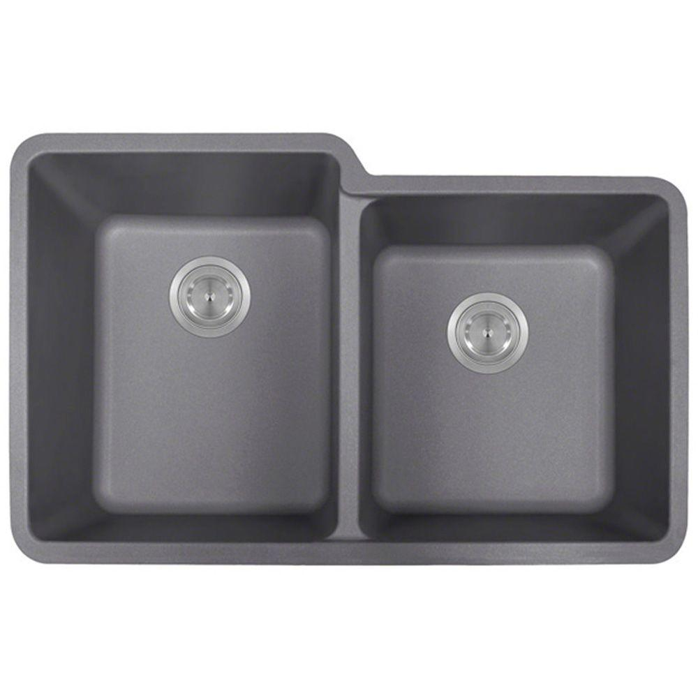 Polaris sinks undermount granite composite 32 5 in 0 hole - Undermount granite composite kitchen sink ...