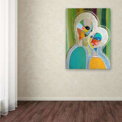 """19 in. x 14 in. """"Aura 3"""" by Sylvie Demers Printed Canvas Wall Art"""