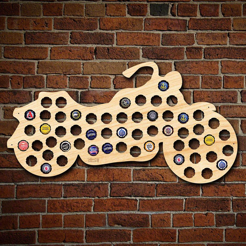 After Workshop In X In Large Motorcycle Beer Cap Map - Indiana beer cap map