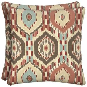 Elaine Ikat Square Outdoor Throw Pillow (2-Pack)