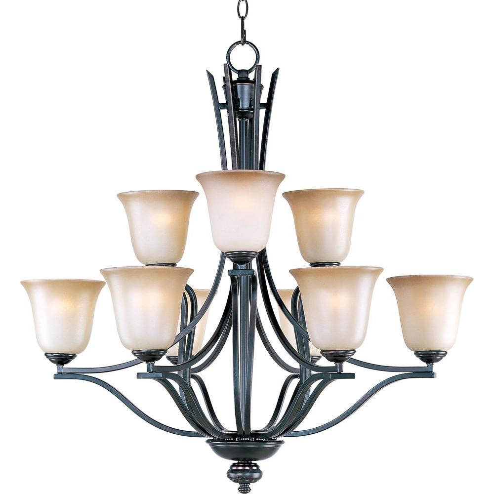 Maxim Lighting Madera 9-Light Oil-Rubbed Bronze Chandelier