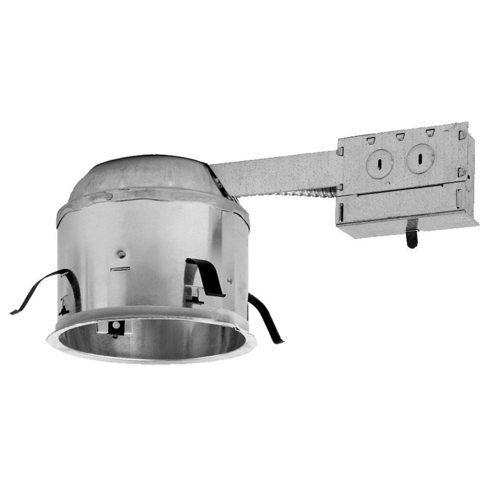 Halo H27 6 in. Aluminum Recessed Lighting Housing for Remodel Shallow Ceiling Insulation Contact Air-Tite (6-Pack)