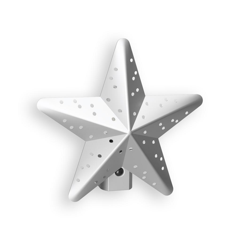 Silver Tin Star Automatic LED Night Light