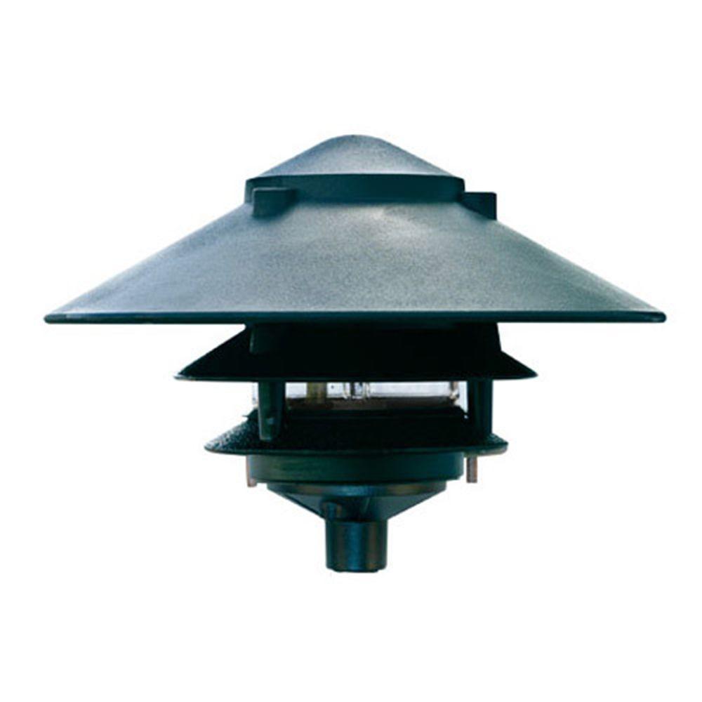 Corbin 1-Light Green 3-Tier Outdoor Pagoda Pathway Light