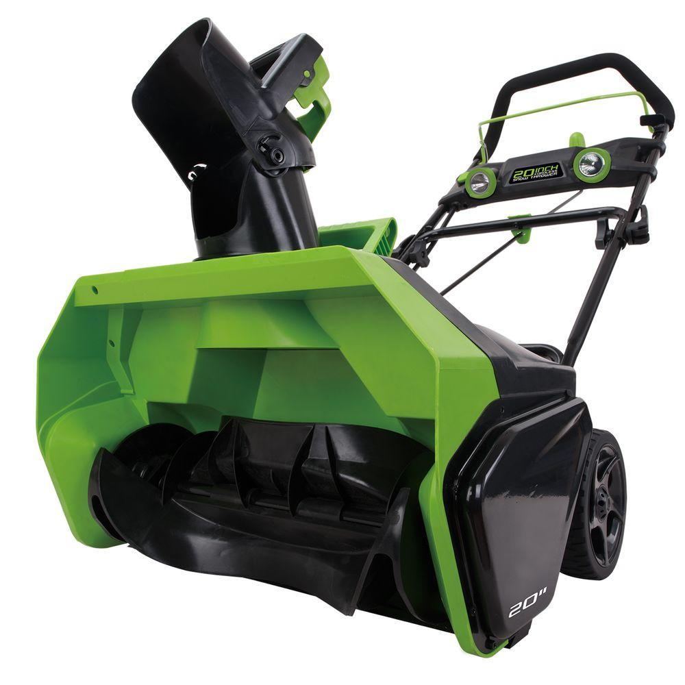 Electric Snow Blower : Greenworks digi pro gmax in volt cordless electric