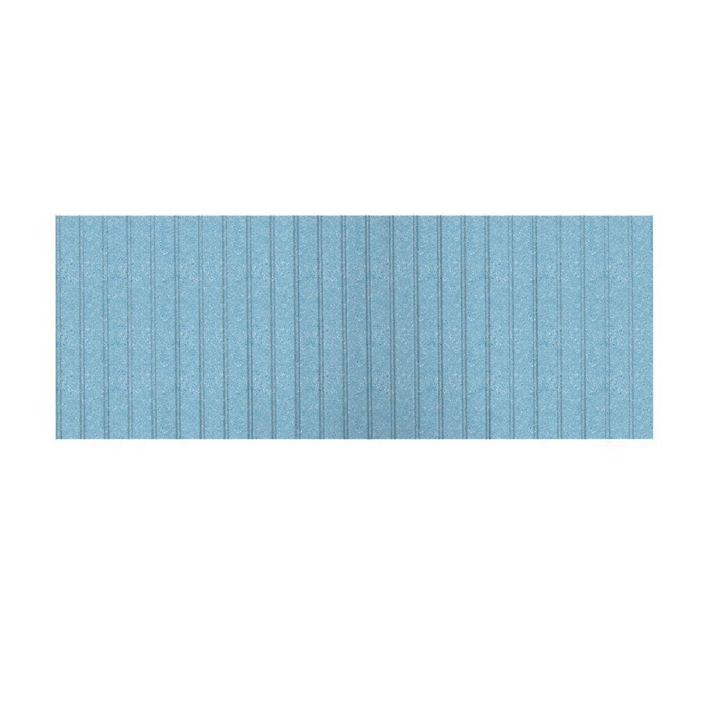 Swanstone 8 ft. x 3 ft. Beadboard One Piece Easy Up Adhesive Wainscot in Tahiti Blue-DISCONTINUED