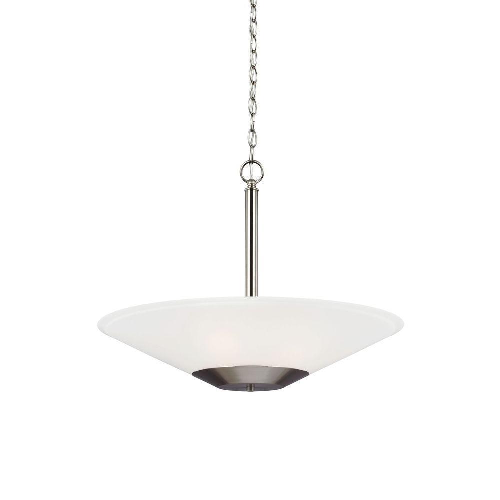 Ashburne 23.25 in. W. 3-Light Brushed Nickel Indoor Pendant