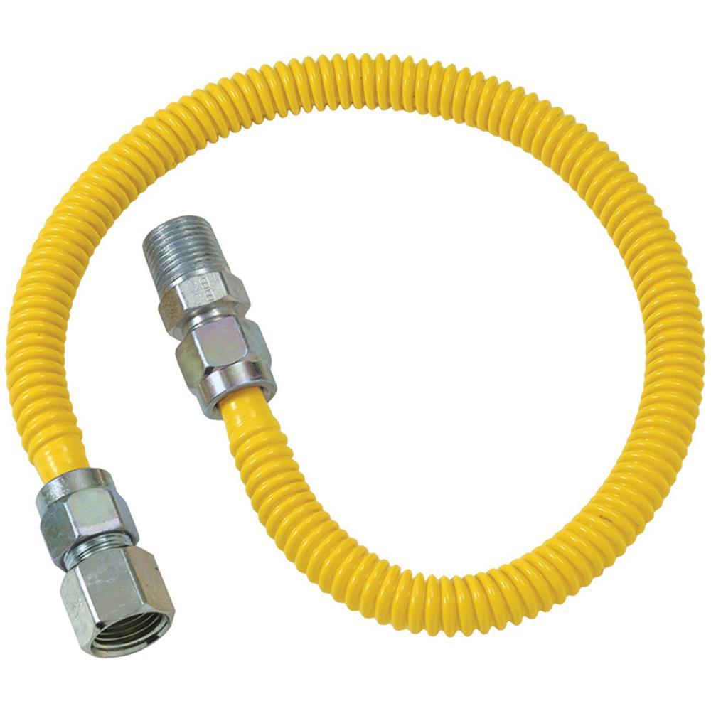 Gas Dryer Flex-Line (3/8 in. O.D. (1/2 in. FIP x 1/2 in. MIP) x 60 in.)