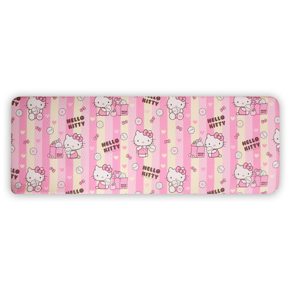 Hello Kitty HK Pink and Yellow 49.21 in. x 17.32 in. Doub...