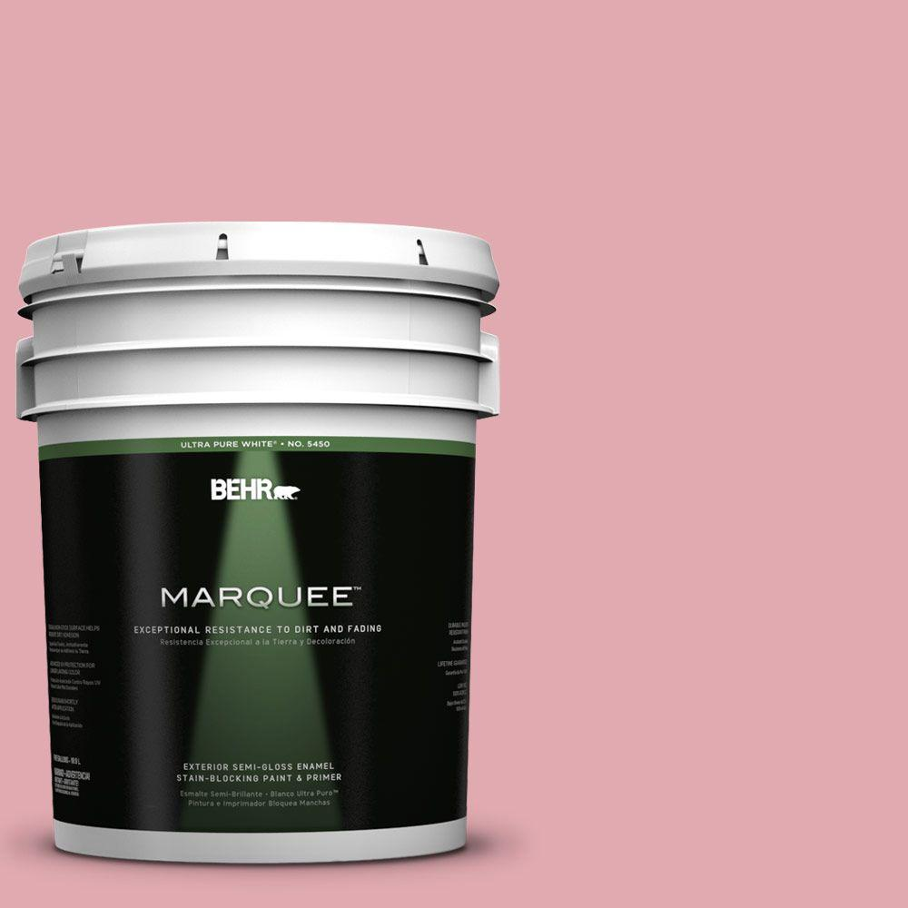 BEHR MARQUEE 5-gal. #130C-3 Raspberry Lemonade Semi-Gloss Enamel Exterior Paint
