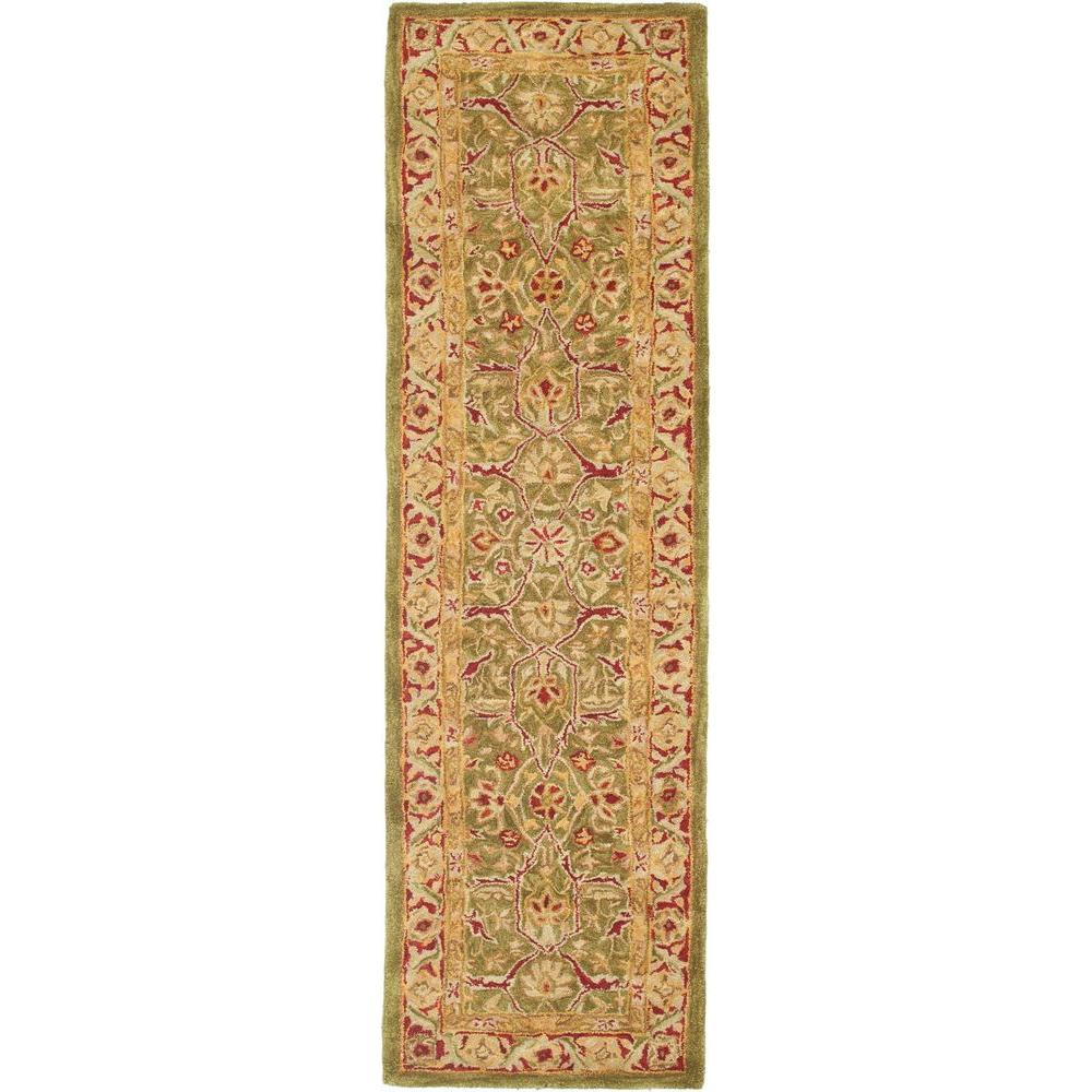 Anatolia Green/Red 2 ft. 3 in. x 10 ft. Runner