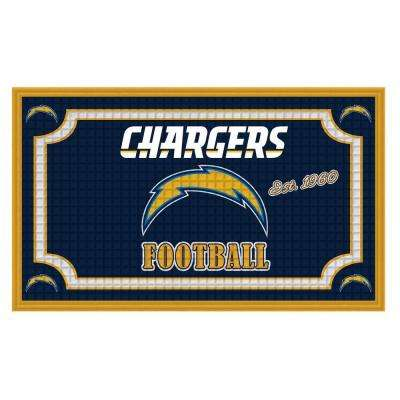 Los Angeles Chargers 18 in. x 30 in. Embossed Welcome Mat