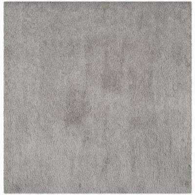 Venice Shag Silver 6 ft. x 6 ft. Square Area Rug