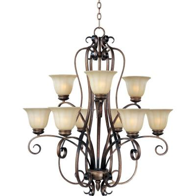 Fremont 9-Light Platinum Dusk Chandelier