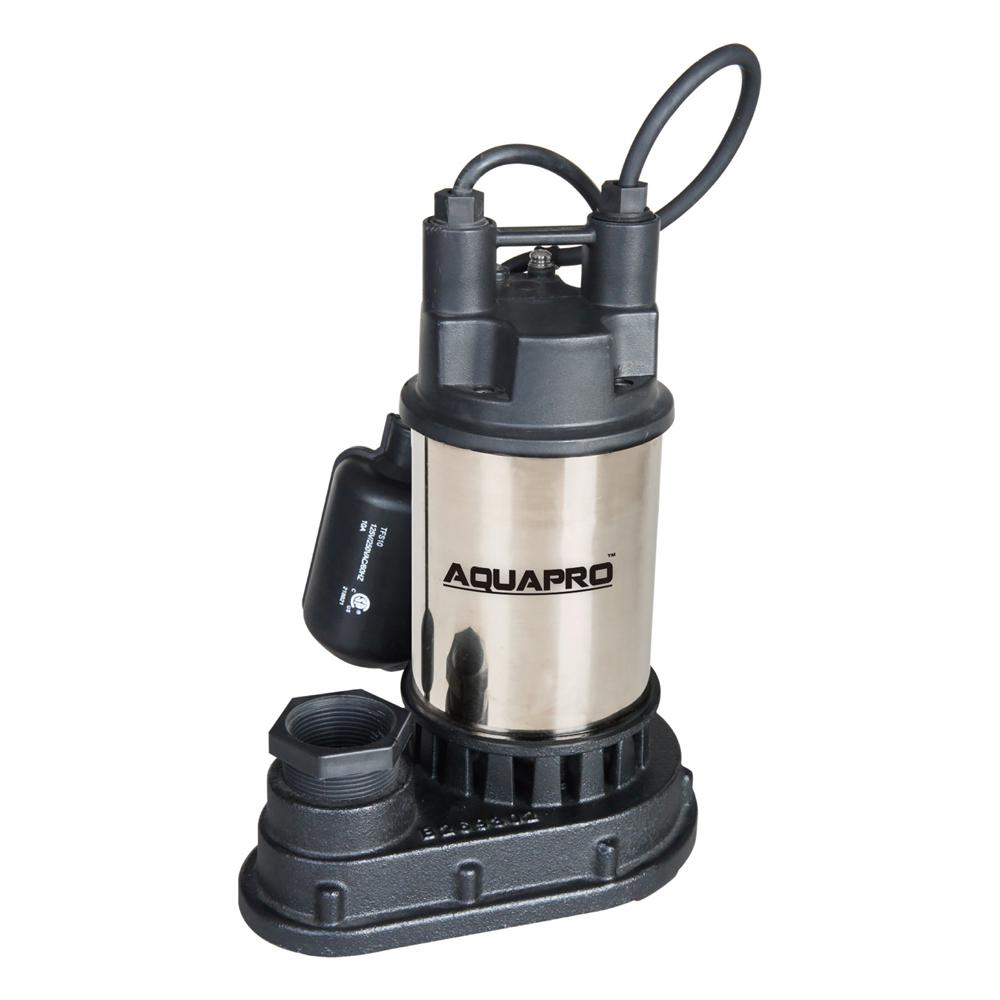 Aquapro 1 3 Hp Submersible Sump Pump With Direct In Tether