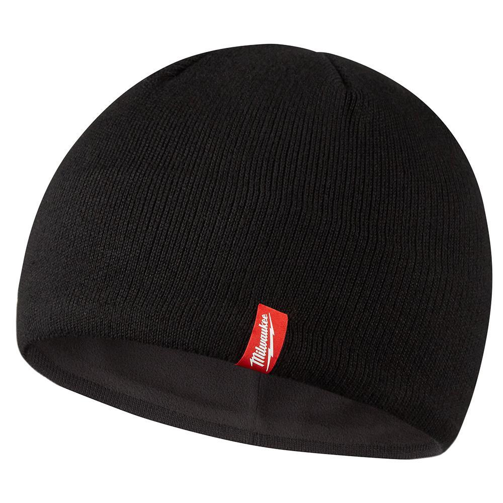 Men's Black Fleece Lined Knit Hat