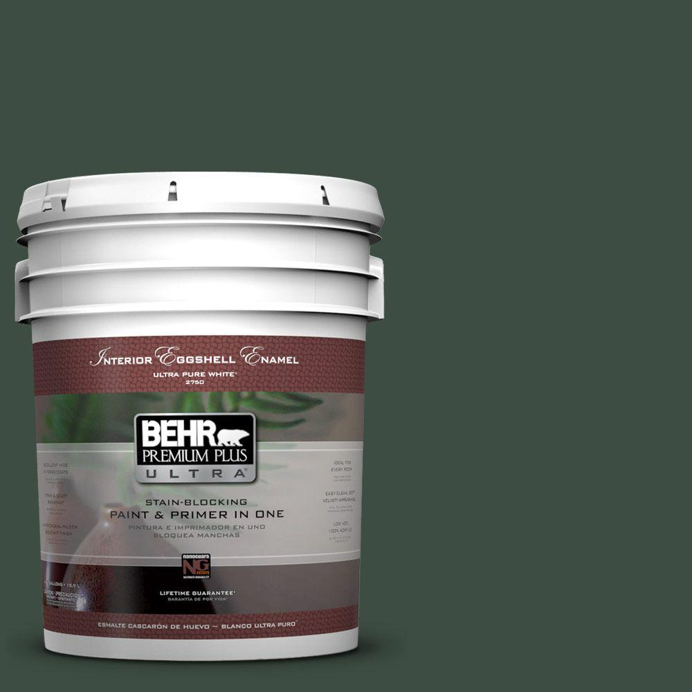 BEHR Premium Plus Ultra 5-gal. #ECC-45-3 Conifer Eggshell Enamel Interior Paint