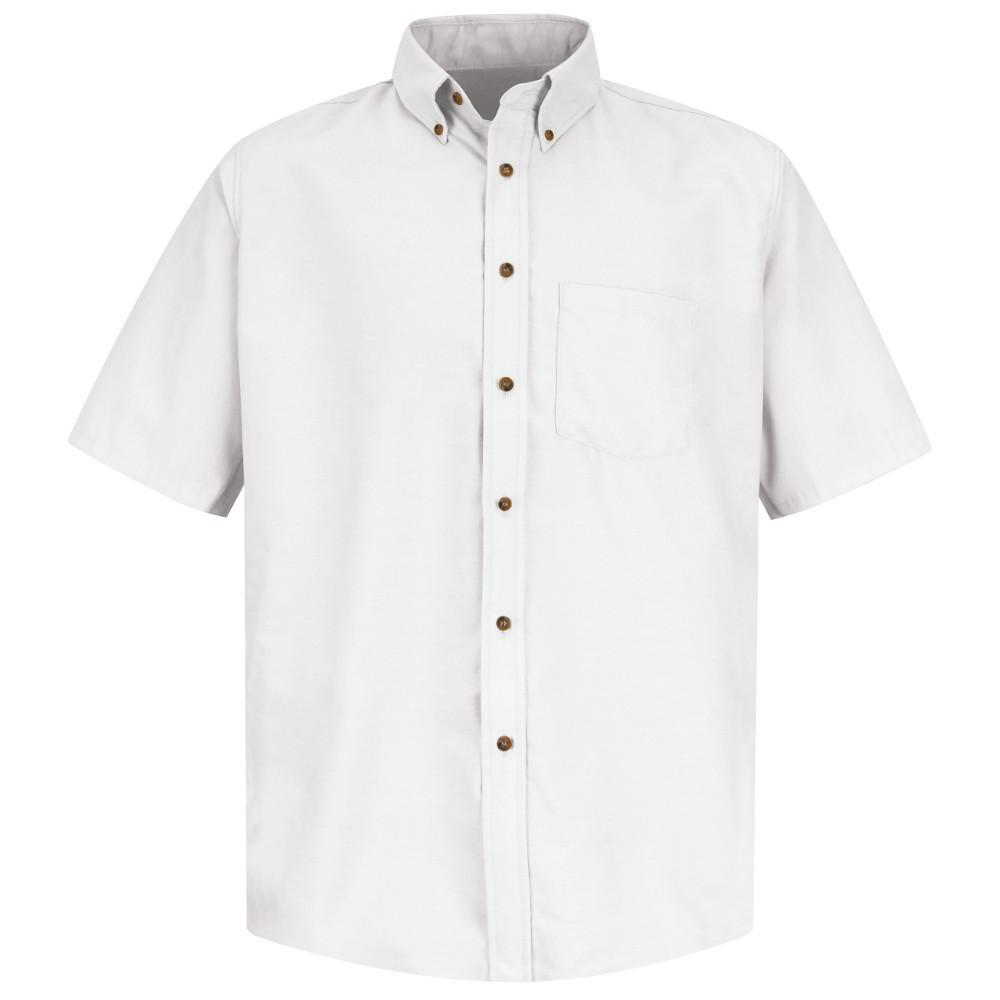 Red Kap Mens Size M White Poplin Dress Shirt Sp80wh Ss M The Home