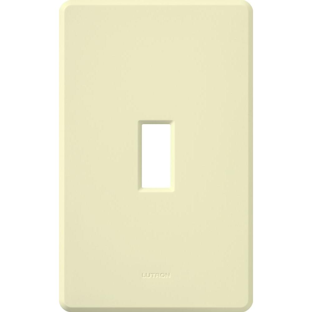 Fassada 1 Gang Wallplate for Toggle-Style Dimmers and Switches, Almond