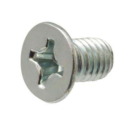 #8-32 x 1/2 in. Phillips Flat Head Zinc Plated Machine Screw (25-Pack)
