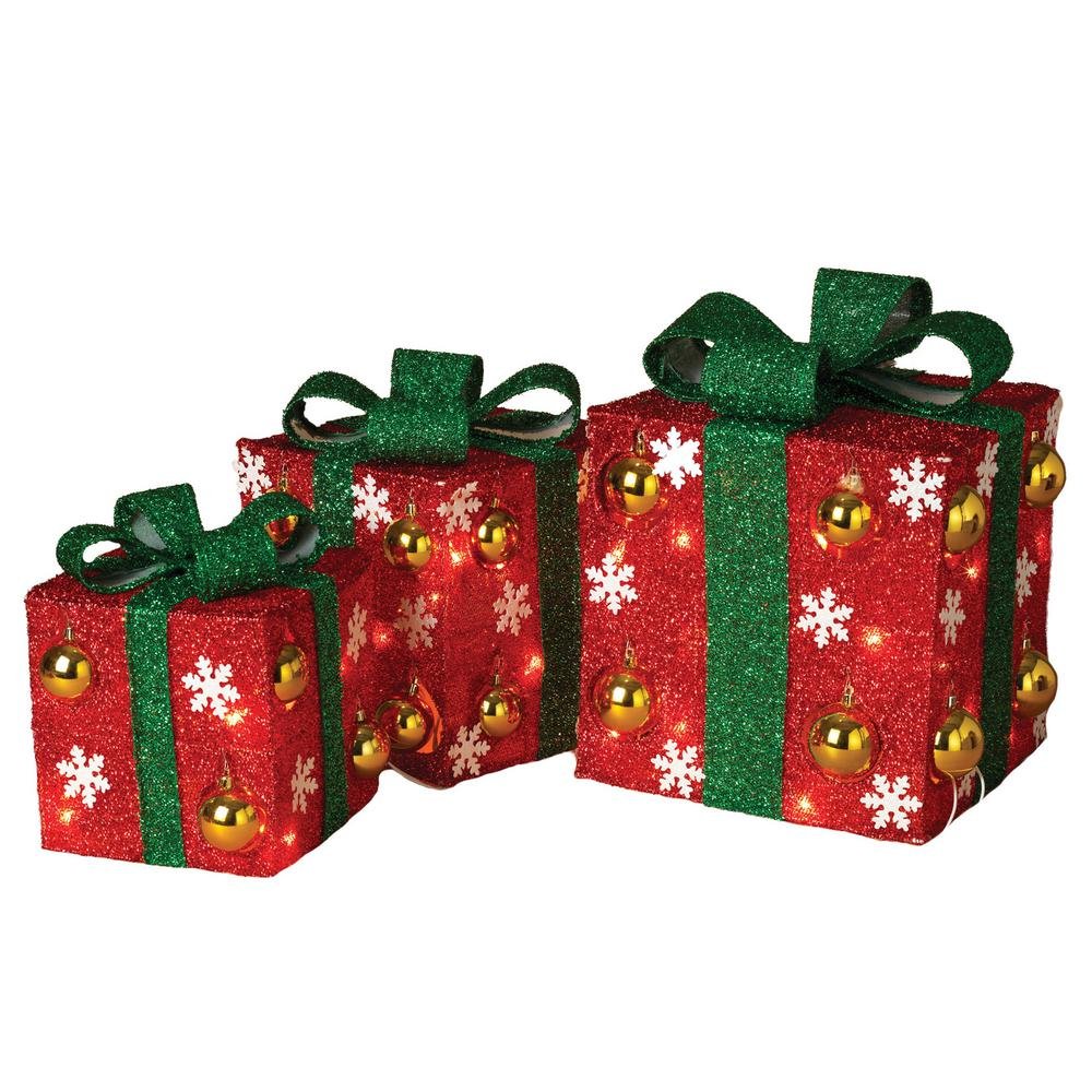 12 in. H Electric Red Gift Boxes