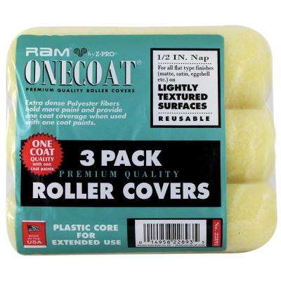 9 in. x 1/2 in. 3-Piece Medium Density Polyester Roller Covers (24-Pack)