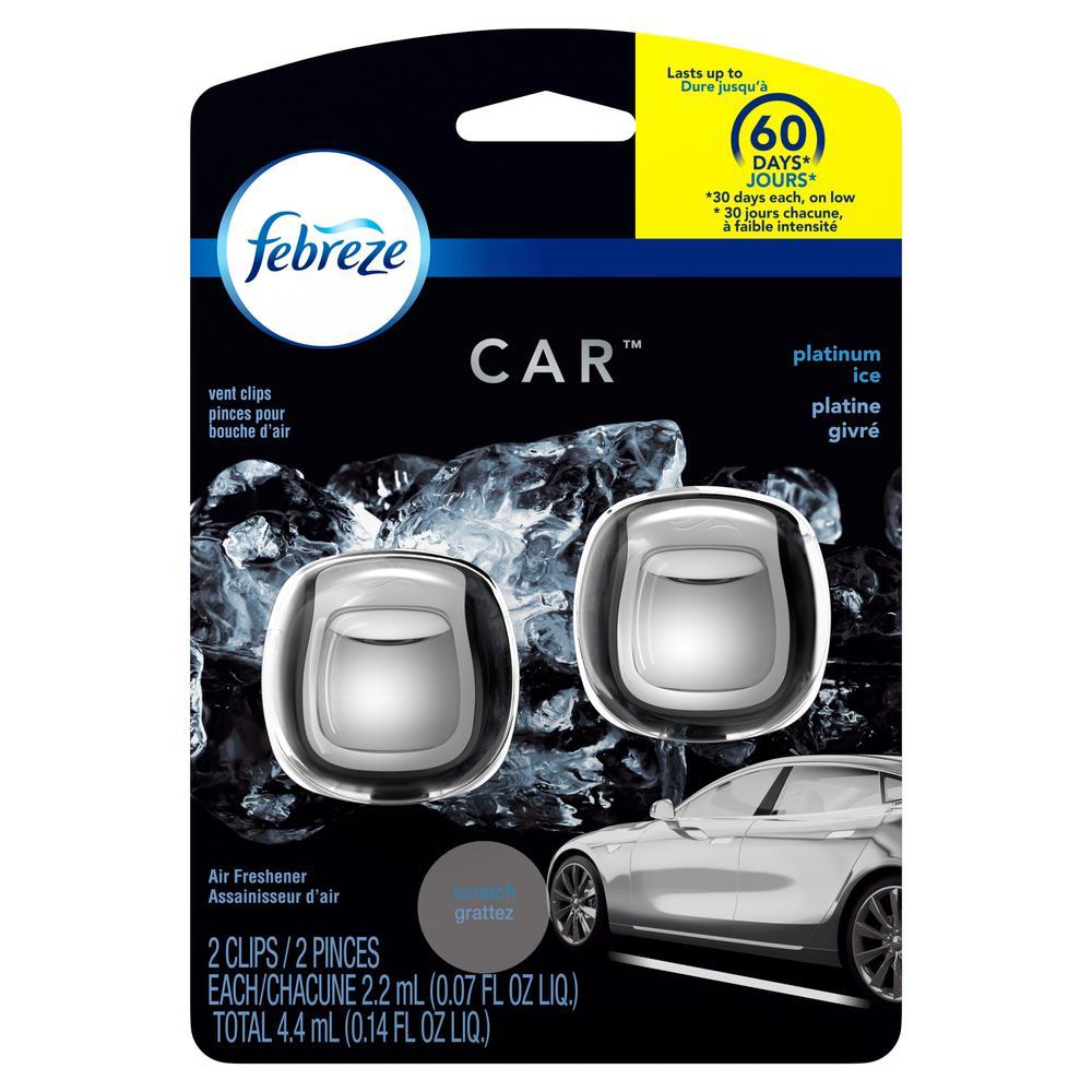 0.14 oz. Platinum Ice Scent Car Vent Clip Air Freshener (2-Count)