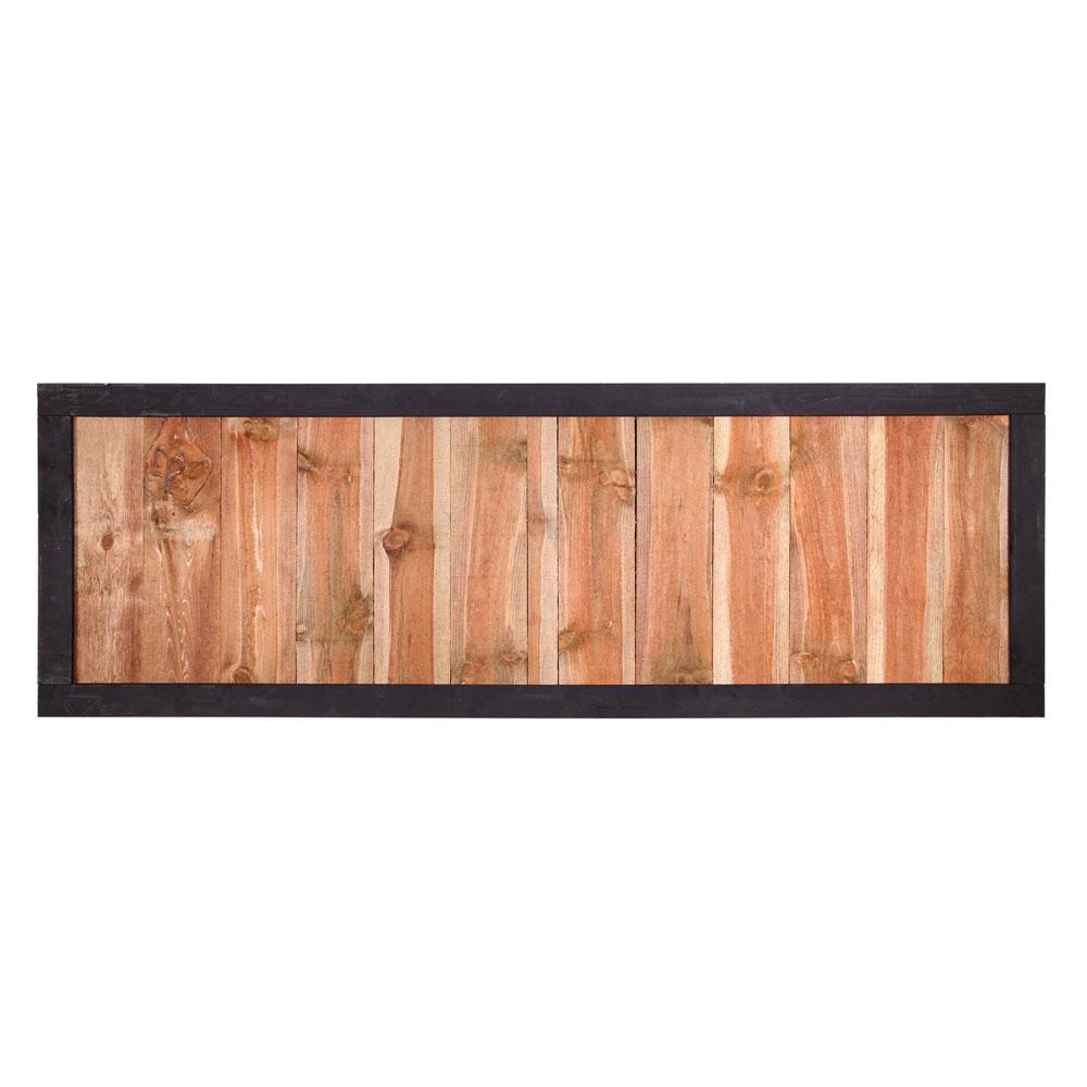 Outdoor Essentials 2 Ft X 6 Pressure Treated Dura Color Sonoma Wood Fence Panel With Black Frame