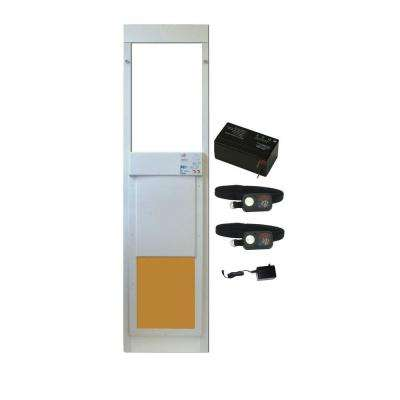 12 in. x 16 in. PowerPet Electronic Sliding Glass Pet Door DeluxPak with Free Additional Collar and Rechargeable Battery