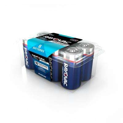 High Energy Alkaline D/1.5 Volt Battery (8-Pack)