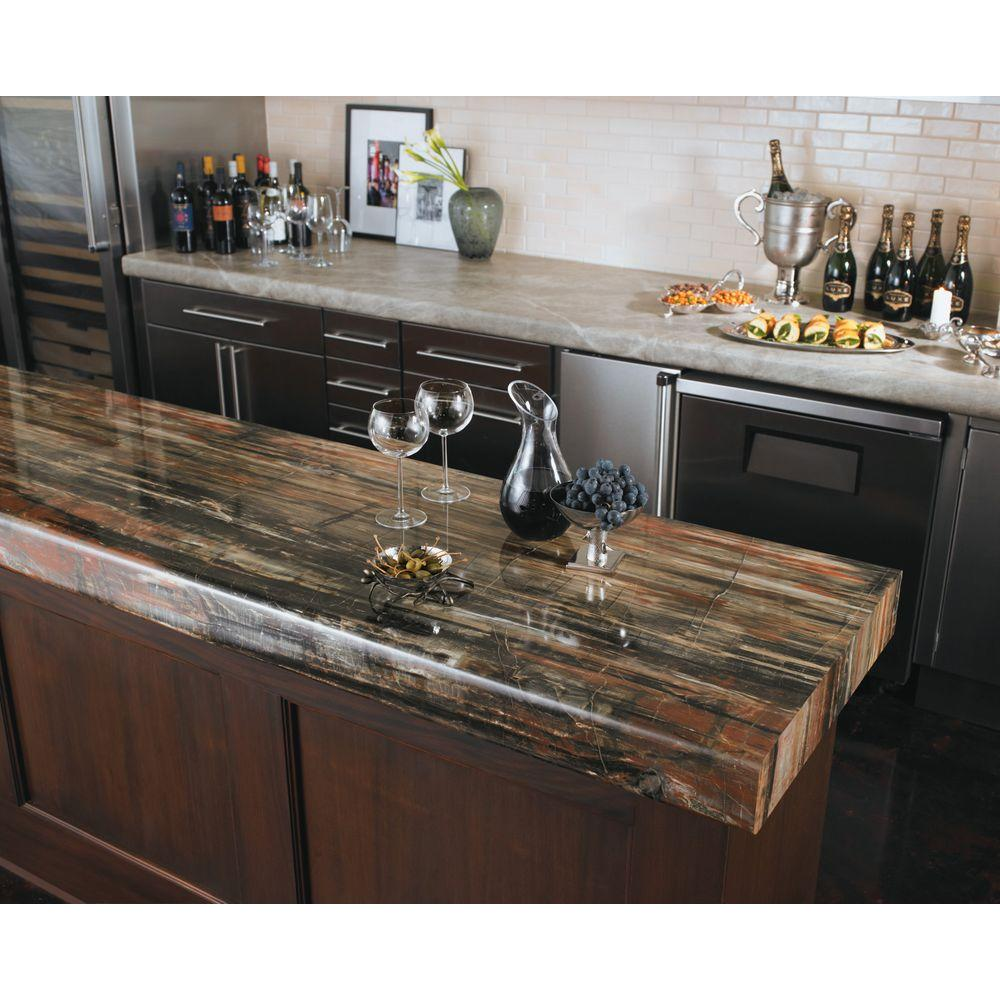 Formica 4 Ft X 8 Laminate Sheet In 180fx Petrified Wood With Etchings Finish