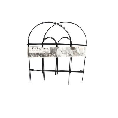 Glamos Wire 18 in. Black Garden Folding Fence (12-Pack)