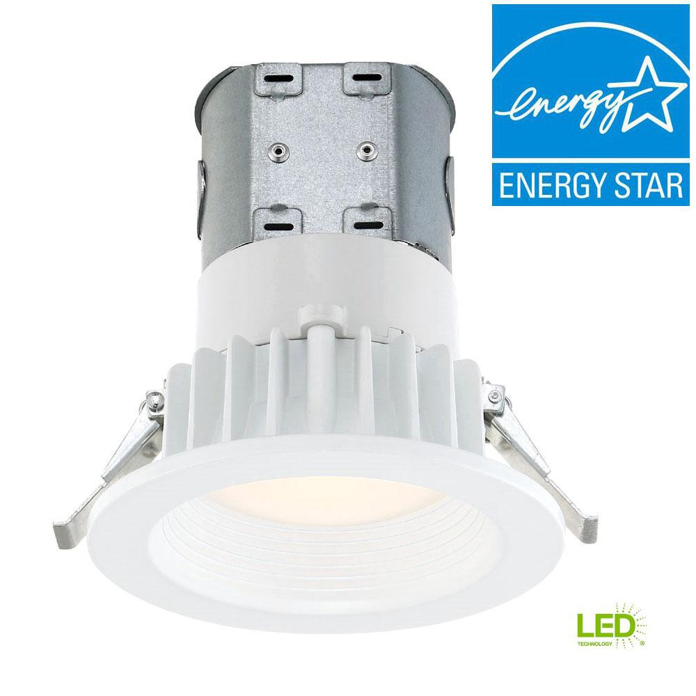 White Integrated LED Recessed Kit