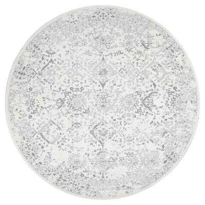 Vintage Odell Ivory 8 ft. x 8 ft. Round Area Rug