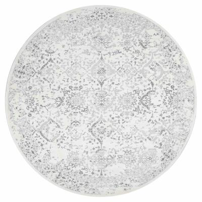 Odell Distressed Persian Ivory 8 ft. x 10 ft. Oval Rug