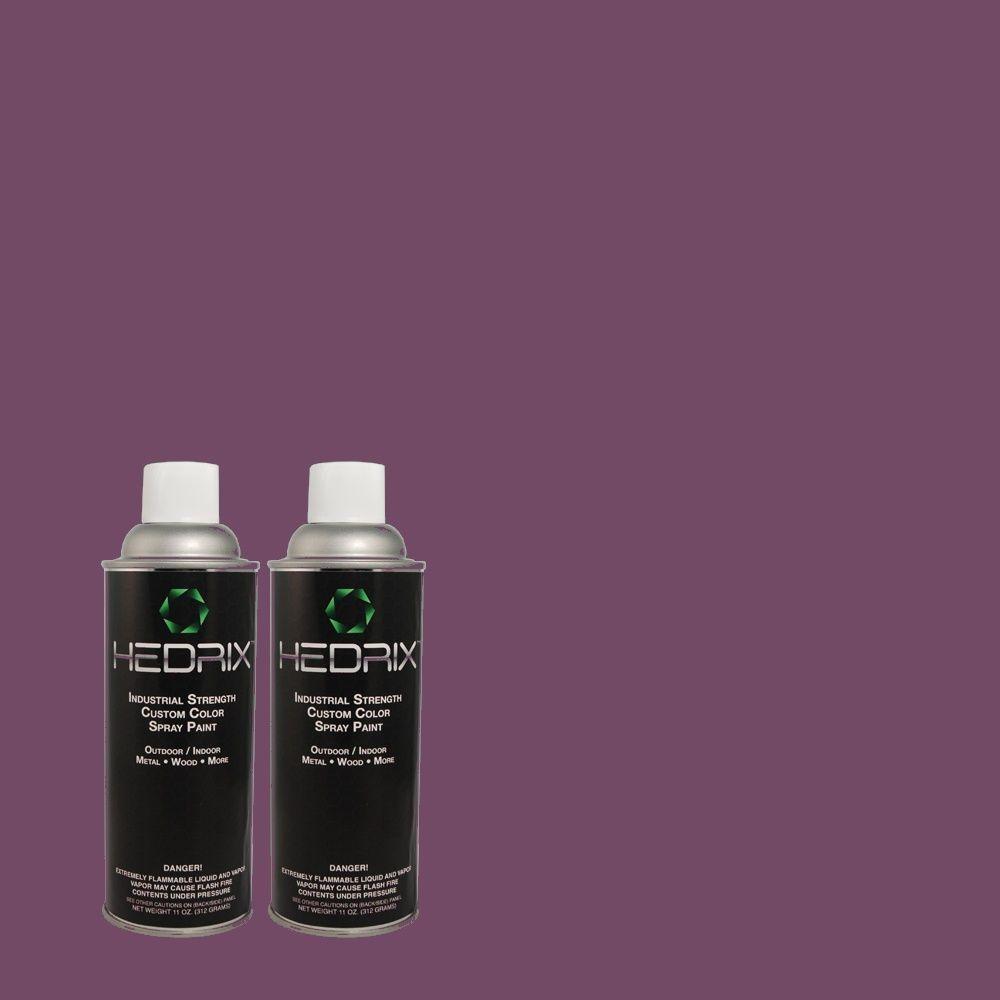 Hedrix 11 oz. Match of S-G-670 Deep Violet Low Lustre Custom Spray Paint (2-Pack)
