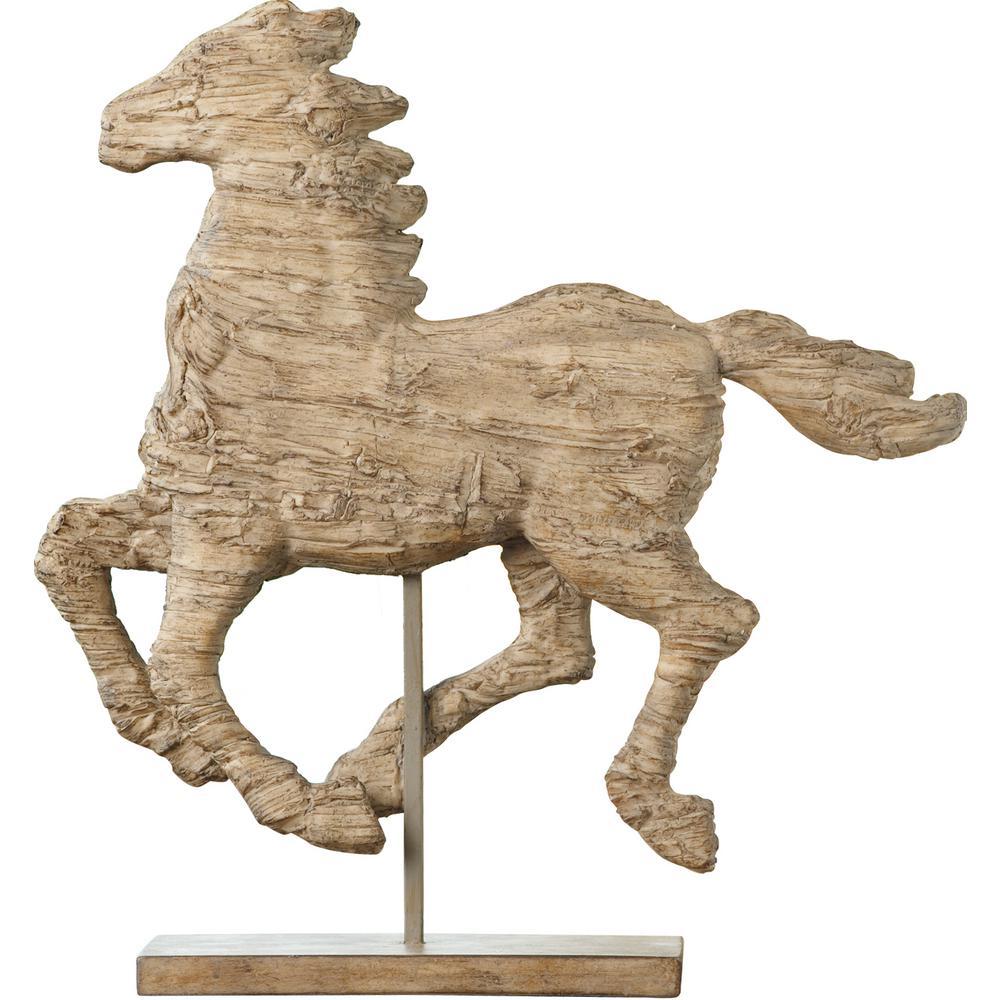 14.5 in. Polyresin Horse Decorative Sculpture