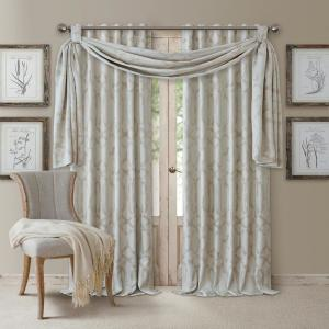 Darla 144 inch W x 52 inch L Polyester Single Blackout Window Valance in Sand by