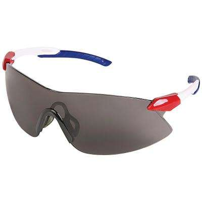 Strikers Eye Protection Red/White/Blue Temple and Gray Lens
