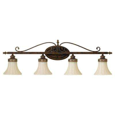 Drawing Room 4-Light Walnut Vanity Light