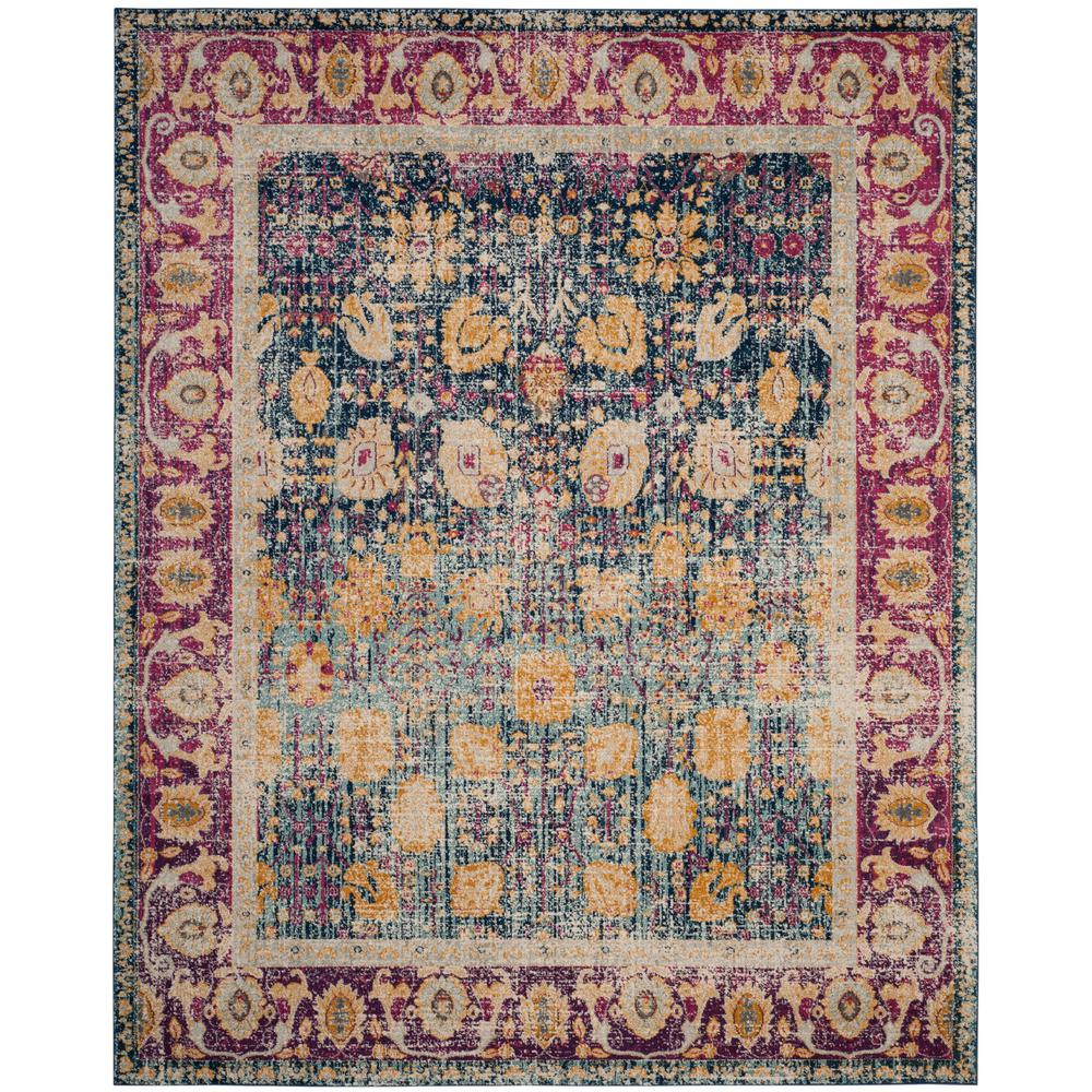Granada Blue/Fuchsia 8 ft. x 10 ft. Area Rug