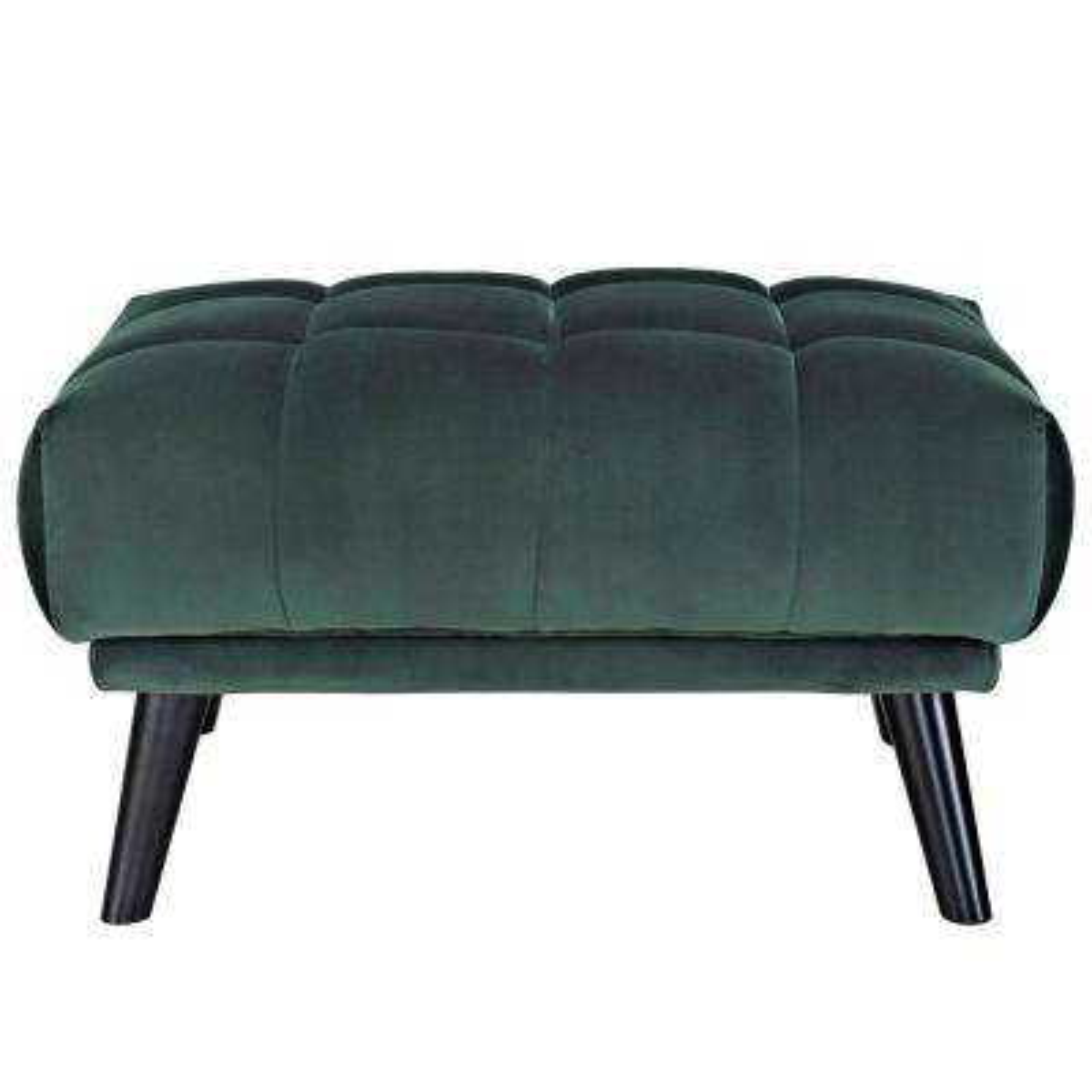 Bestow Green Velvet Ottoman